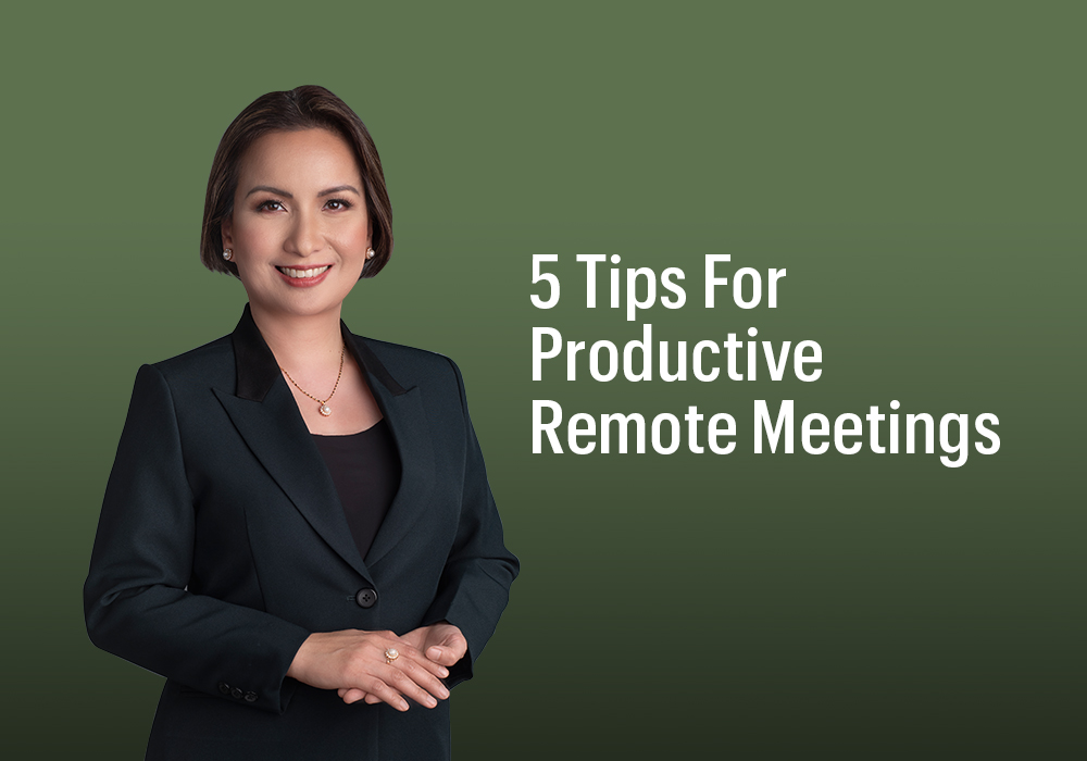 5 Tips For Productive Remote Meetings - Radiance Image Consultancy